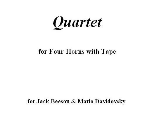 Horn Quartet